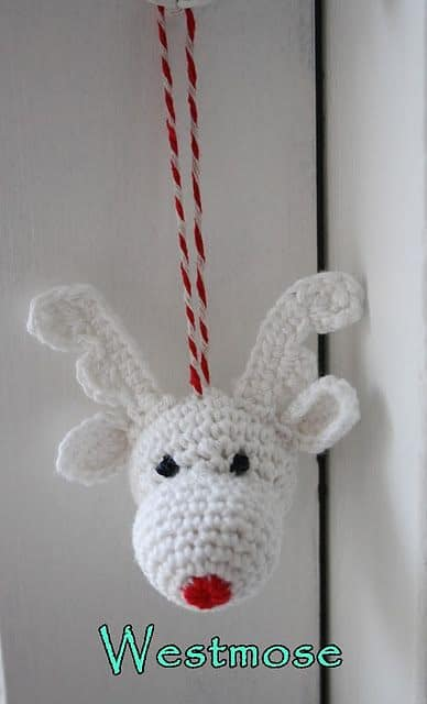 Reindeer Christmas Ornament Free Crochet
