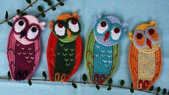 Screech Owl Crochet Applique Pattern