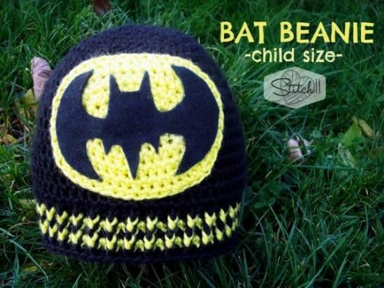 Batman Beanie Free Crochet Pattern
