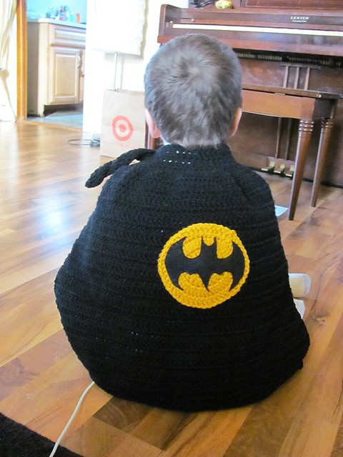 Batman Crochet Cape Free Pattern