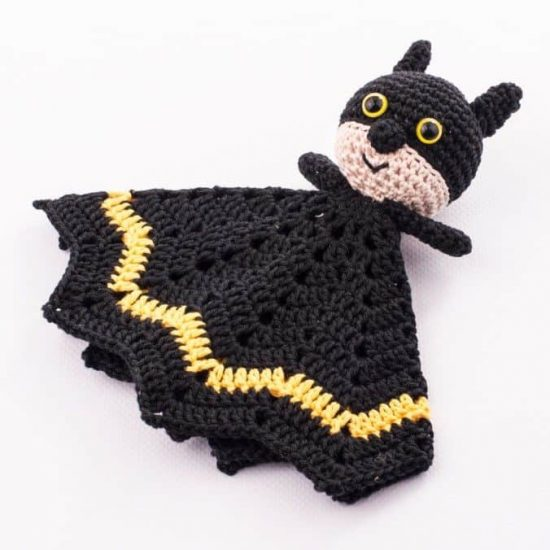 Batman Lovey Blanket Free Pattern