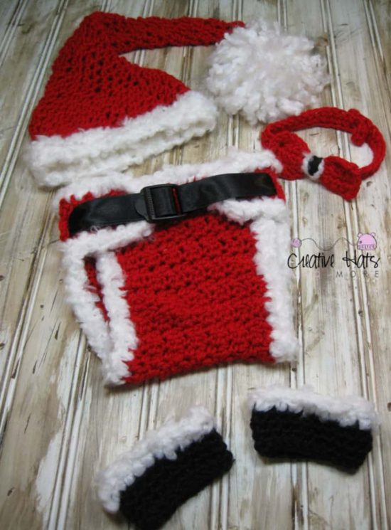 Crochet Santa Set For Boys