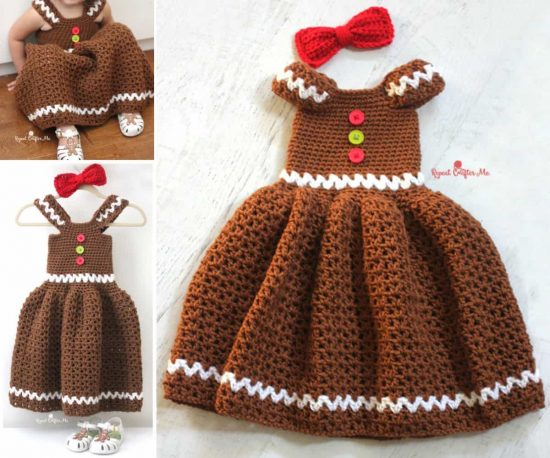 Gingerbread Crochet Dress Free Pattern