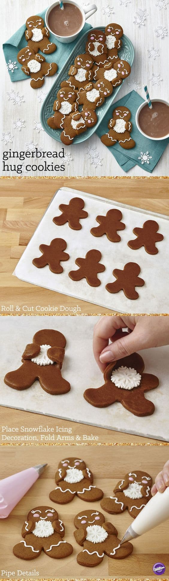 Gingerbread Hug Cookies
