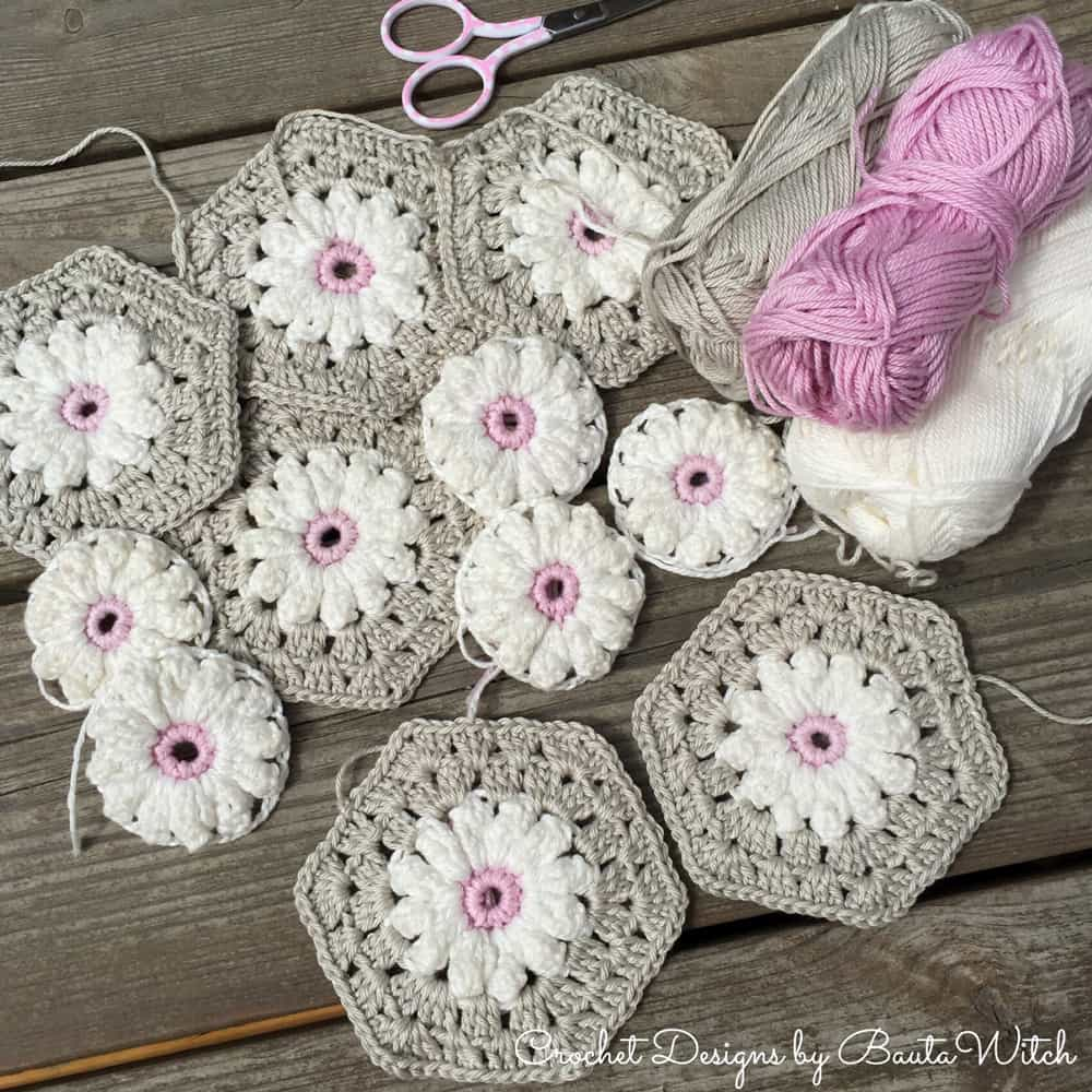 Crochet Daisy Granny Square Pattern Youtube Video