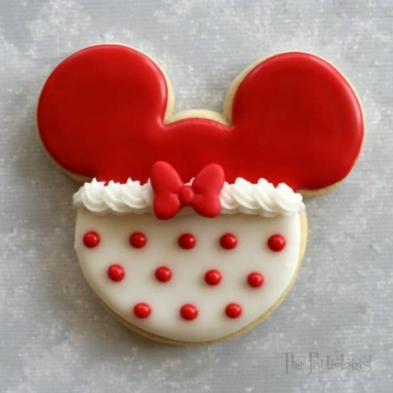 Minnie Mouse Christmas Cookie