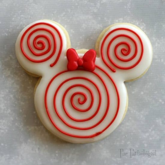 Peppermint Minnie Mouse Cookie