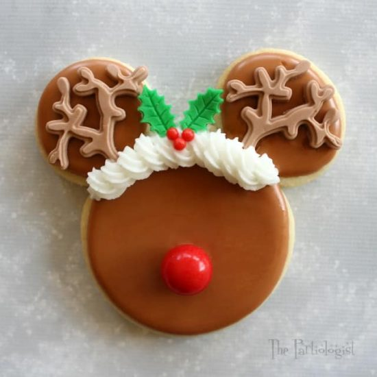 Rudolf Mickey Mouse Cookie