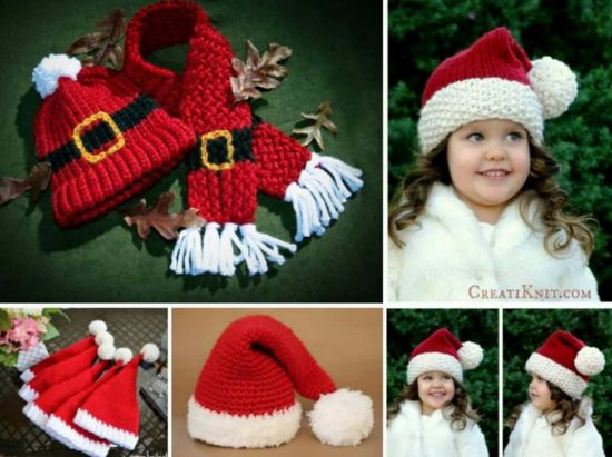 Crochet Christmas Hats Pattern