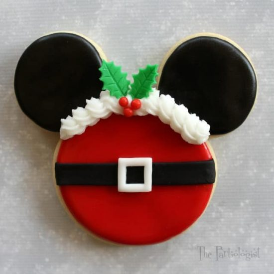 Santa Mickey Mouse Cookie