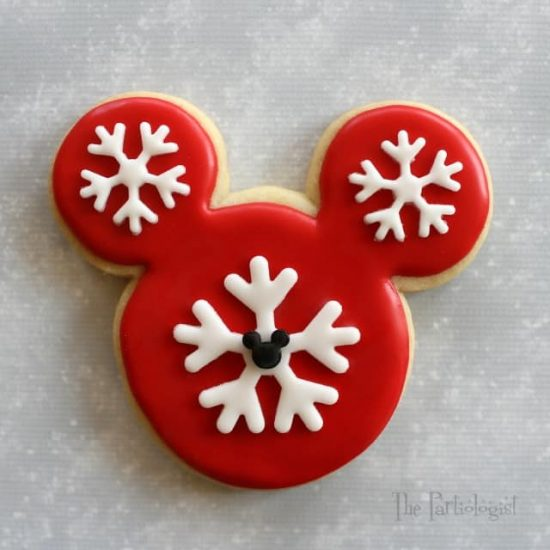 Snowflake Mickey Mouse Cookie