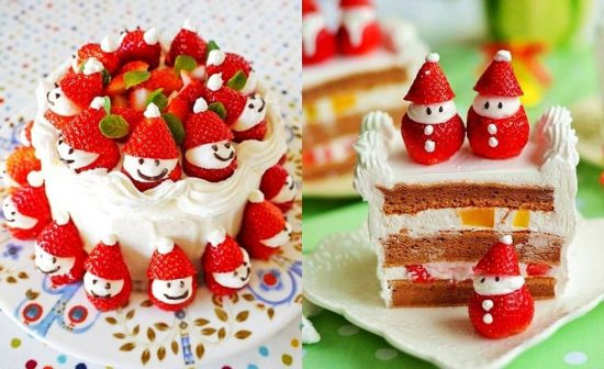 Strawberry Santa Cake Recipe Video