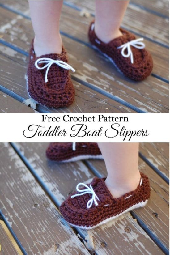 Toddler Boat Booties FREE Crochet Pattern