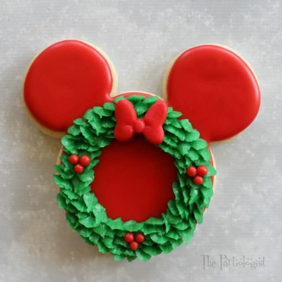 Wreath Minnie Mouse Cookie