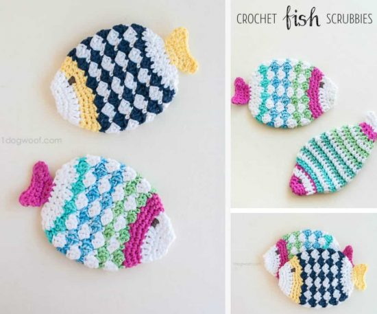 Crochet Fish Scrubbies Free Pattern