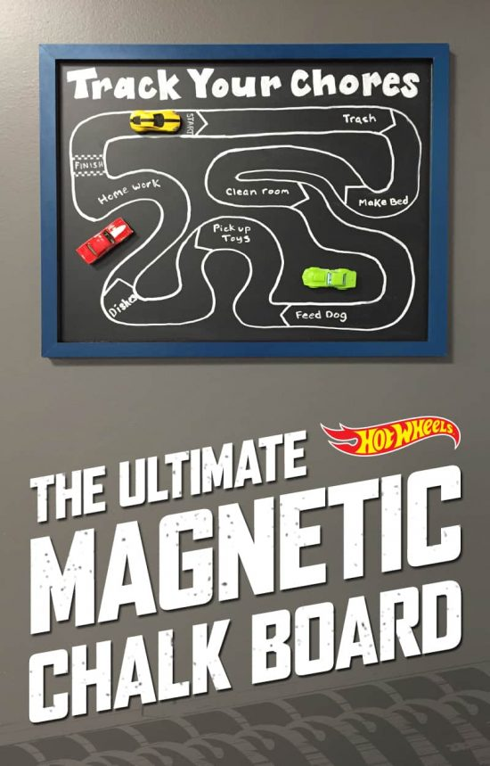 Cars Magnetic Chalkboard Chore Chart
