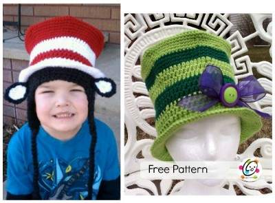 Dr Seuss Hat Free Crochet Pattern