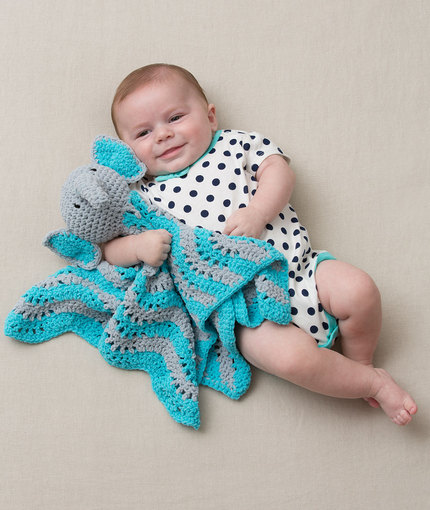 Elephant Security Blanket Free Crochet Pattern