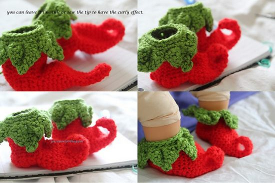 Elf Baby Shoes Free Crochet Pattern