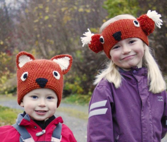 Fox Hat and Headband Free Crochet Pattern