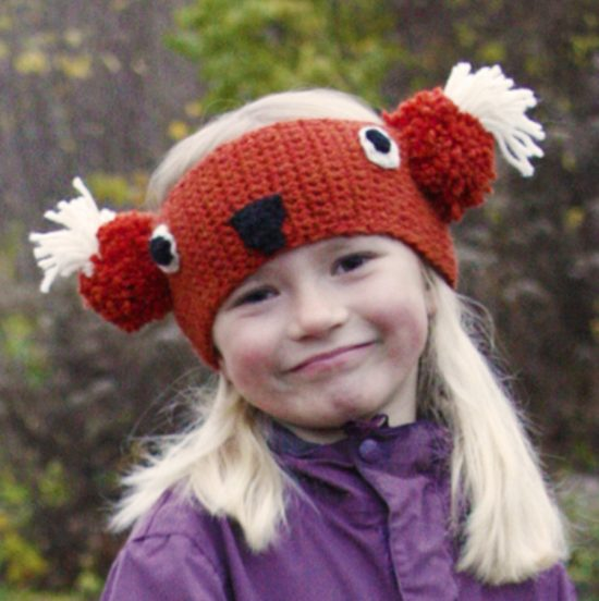 Fox Headband Free Crochet Pattern