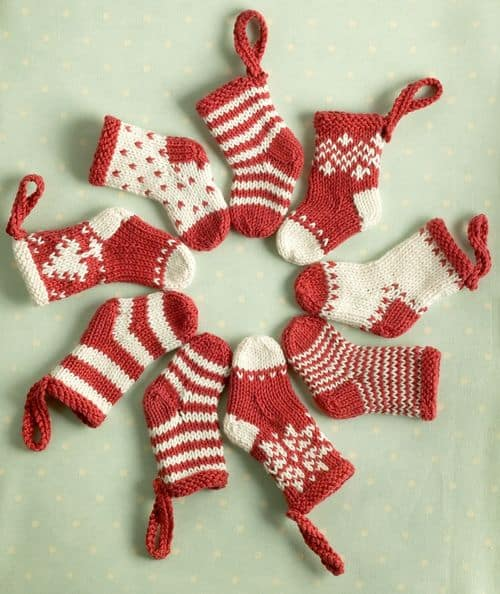 French Knitting Christmas Tree Ornaments The Whoot