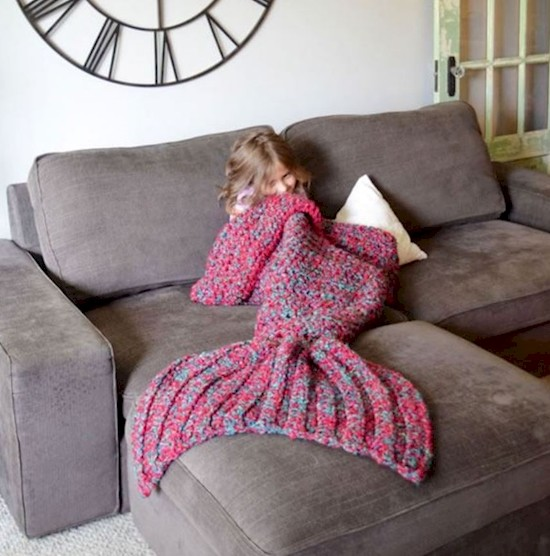 Mermaid Crochet Blanket - lots of free patterns