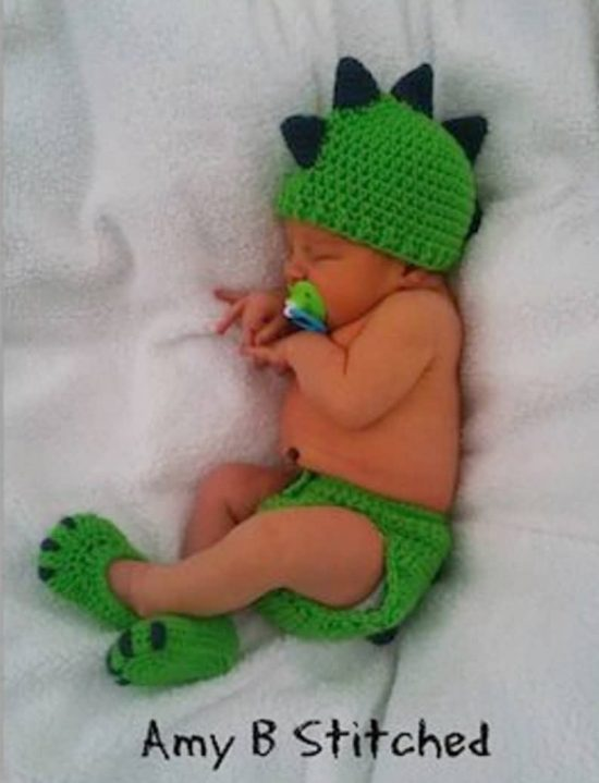 Baby Crochet Diaper and Hat Free Pattern