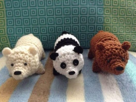 Bear Trio Free Crochet