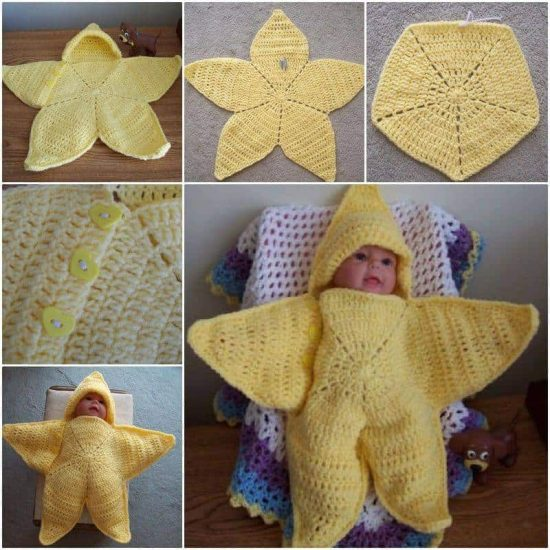 Crochet Hooded Baby Star Free Pattern