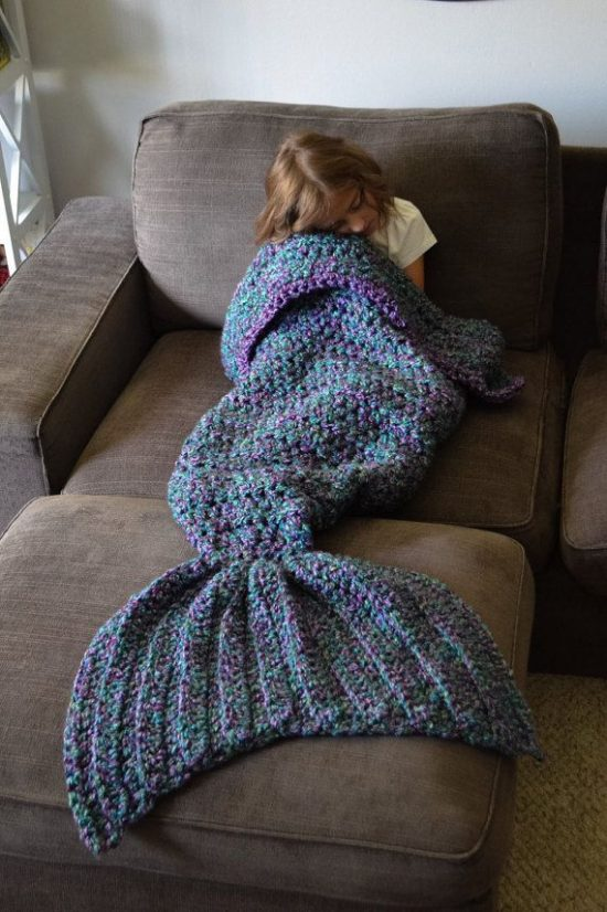 Crochet Mermaid Blanket Free Pattern