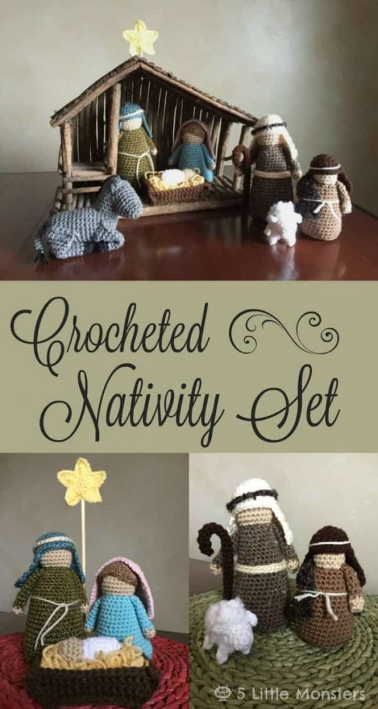 Crochet Christmas Nativity Set Free Pattern