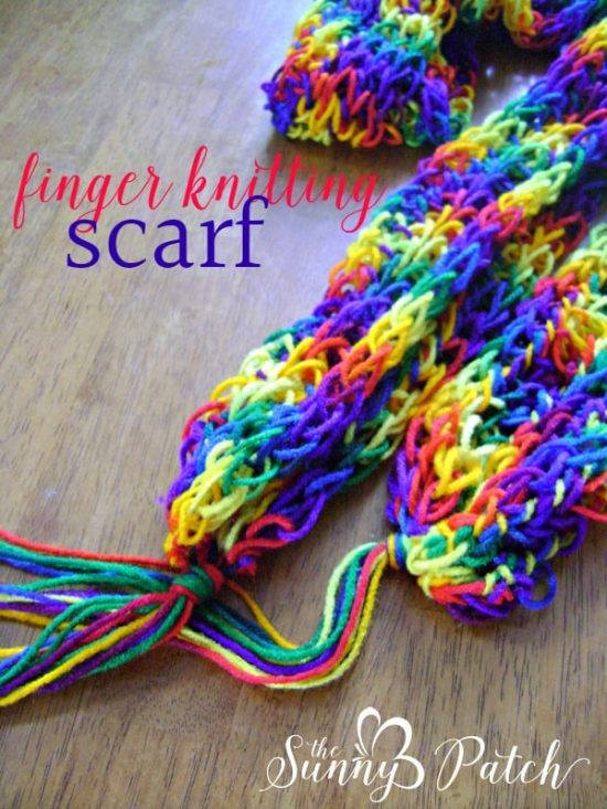 Finger Knitting Instructions Beginner Projects The Whoot
