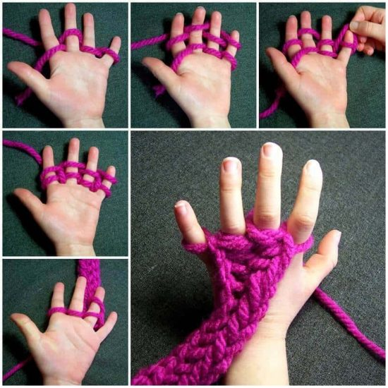 Finger Knitting Instructions