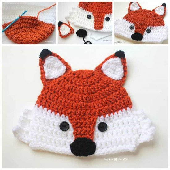 Fox Crochet Hat Free Pattern