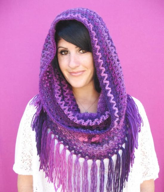 Fringed Cowl Crochet Pattern Free on our site