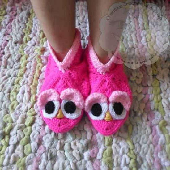 Crochet Animal Slippers Free Patterns The Whoot