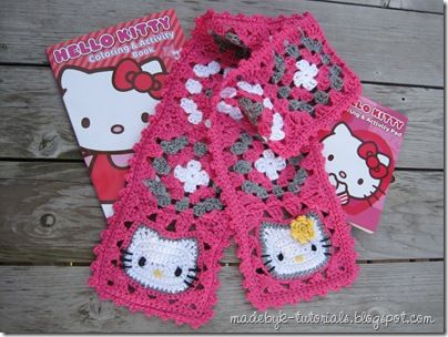 Hello Kitty Granny Square Free Pattern