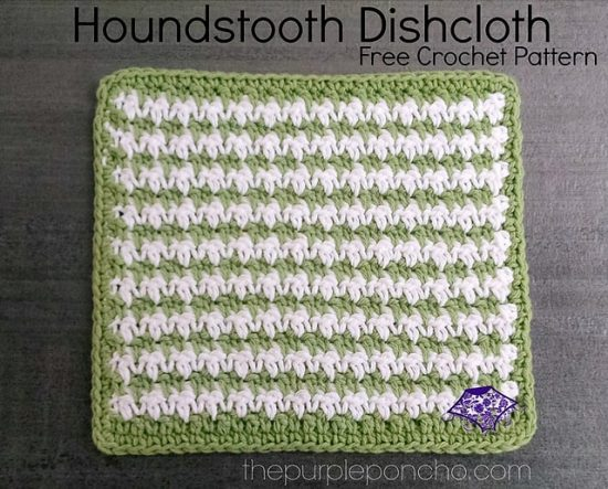 Houndstooth Crochet Dish Cloth Free Pattern