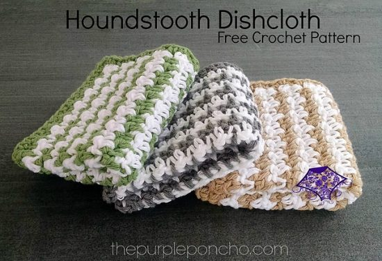Houndstooth Crochet Dishcloth Free Pattern