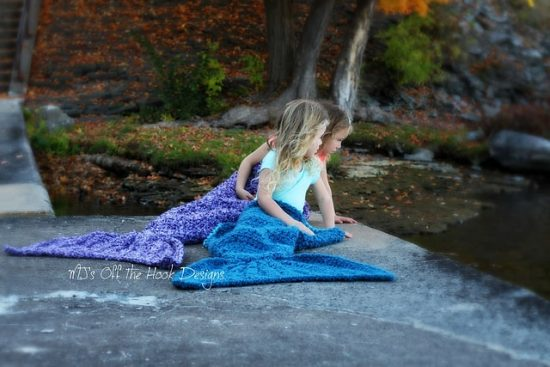 Mermaid Crochet Tail Blanket Pattern