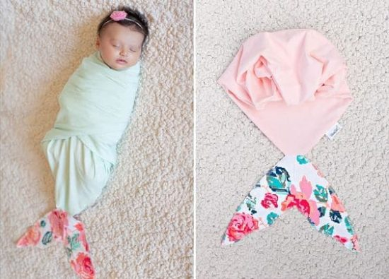 Mermaid Tail Newborn Swaddle Blanket
