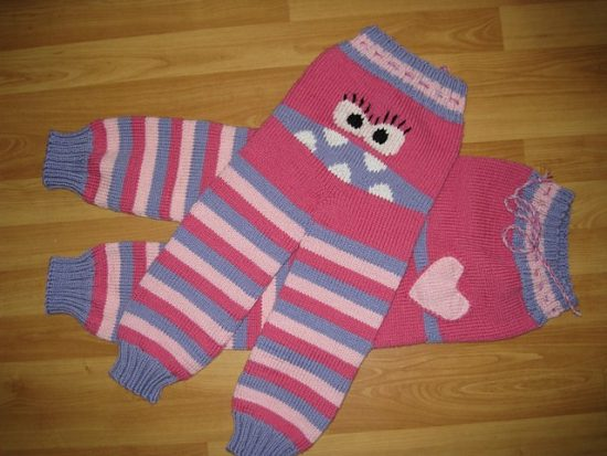 Monster Pants Free Knitted Pattern