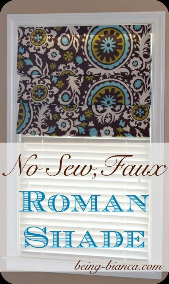 No Sew Faux Roman Blind