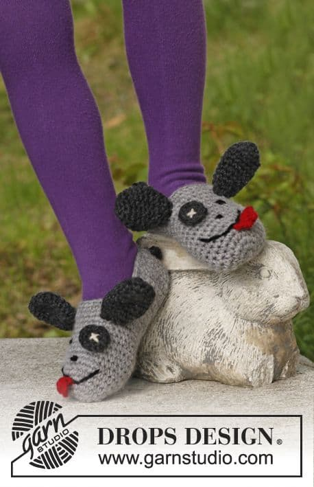 Puppy Slippers Free Crochet Pattern