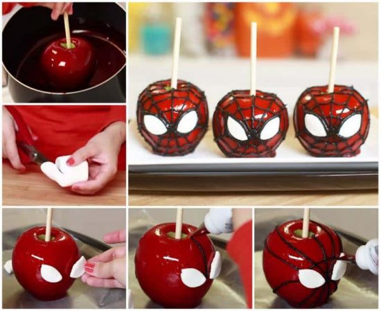 Spiderman Candy Apples Ingredients