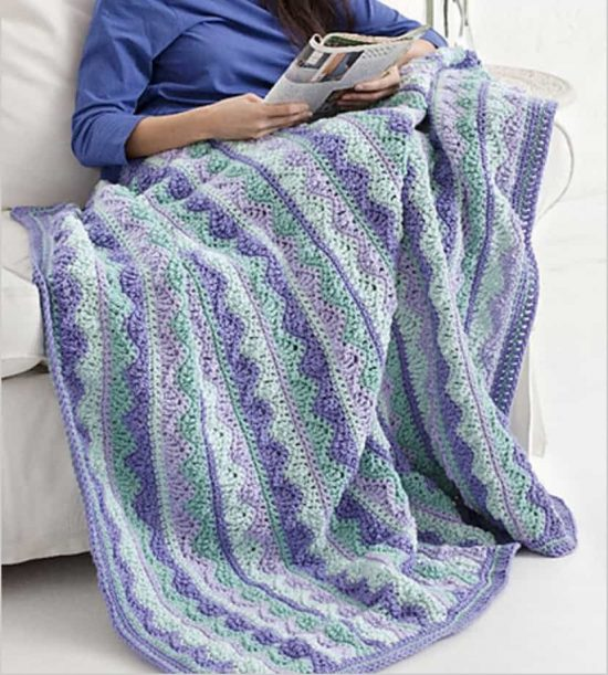 Summer Mist Crochet Throw Free Pattern