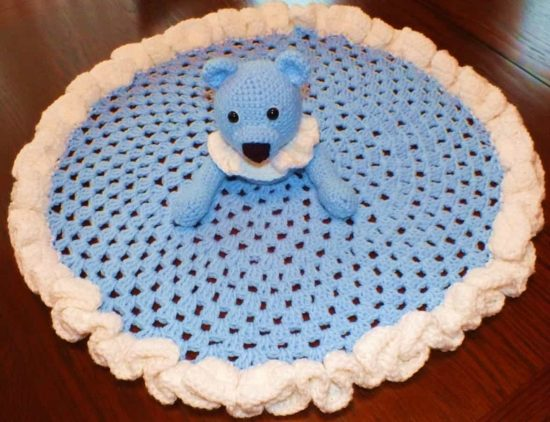 Teddy Bear Security Blanket Free Crochet Pattern