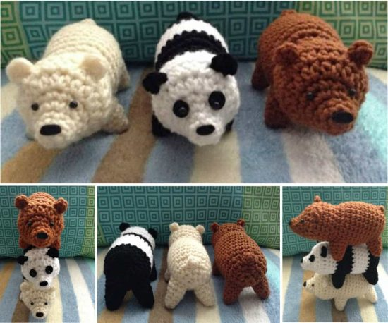 Amigurumi Miniature Animals Free Crochet Patterns & Paid - DIY ... | 458x550