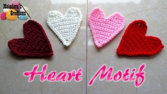Crochet Heart Motif Applique FREE Tutorial
